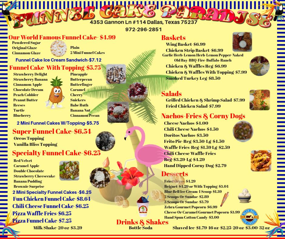 funnel cake paradise dallas texas